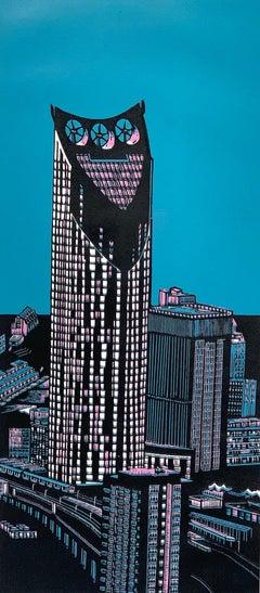 Jennifer Jokhoo, Strata SE1 Variation, London Art, Cityscape Art, Affordable Art