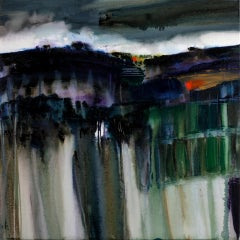 Gina Parr, Tea and Tors, Contemporary Abstract Landscape Painting, Art Online