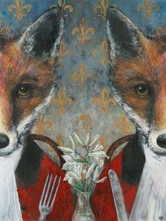 Harry Bunce, Restaurant au Renard, Limited Edition Print, Animal Art, Art Online
