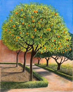 Jane Peart, Orange Trees, Affordable Art, Spanish Landscape Art, Art Online