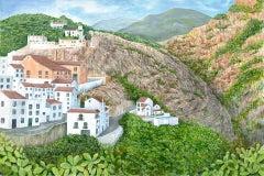 Jane Peart, Frigliana, Andalucia, Spanish Landscape Art, Affordable Art