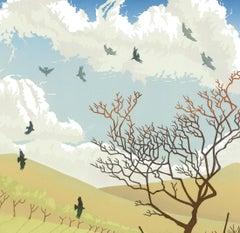 Steve Manning, Caught on the Breeze, Limited Edition Print, Landscape Art