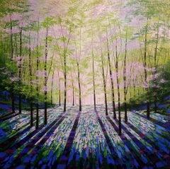 Amanda Horvath, Woodland Aurora, Original Painting, Landscape Art, Woodland Art