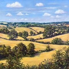 Marie Robinson, August Fields, Original Landscape Painting, Affordable Art