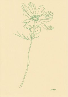 Ellen Williams, Cosmos I, Floral Art, Minimalist Art, Affordable Art, Art Online