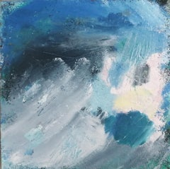 Mary Scott, Cornish Blue, Original Semi Abstract Painting, Contemporary Art