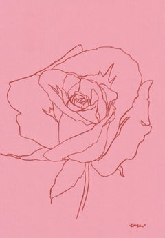 Ellen Williams, Rose VIII, Original drawing, Affordable Art, Minimalist Art