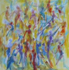 Joanna Commings, Dance Movement 3, Original Abstract Figure painting, Art Online