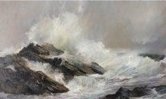 Kim Pragnell, Hebridean Wave Surge, Original Seascape Art, Contemporary Art