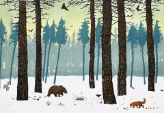 Tim Southall, Winter Woods, Limited Edition Print, Affordable Art, Landscape Art
