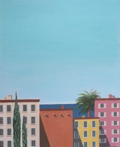 Karen Lynn, Old Town Nice, Original Architecture Painting, Contemporary Art