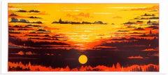Chris Keegan, Sunburst, Limited Edition Silkscreen Print, Landscape Art