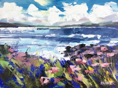 Rachel Painter, Hush Of The Sea III, Original Landscape Painting, Art Online