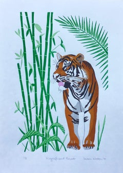 Sarah Weston, Magnificent Beast, Affordable Art, Tiger Art, Art Online