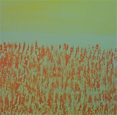 Pixie Willoughby, Harvest, Original Abstract Landscape Painting, Affordable Art