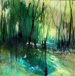 Adele Riley, Dappled Heaven, Original Landscape Painting, Affordable Art