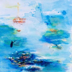 Roberta Tetzner, Inner Peace, Abstract Landscape Painting, Affordable Art