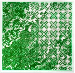 Chris Keegan, Green Flow, Limited Edition Silkscreen Print, Abstract Art