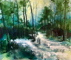 Adele Riley, Love at First Sight, Original Landscape Painting, Affordable Art