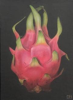 Dani Humberstone, Dragon Fruit, Original Painting, Realistic Fruit Painting