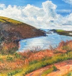 Peri Taylor, Coastal Walk Overlooking Fowey Estuary, Landscape Art, Art Online
