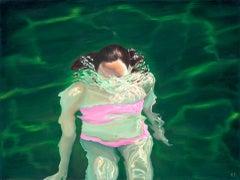 Amy Devlin, Emerge 2, Original Figurative Painting, Affordable Contemporary Art