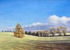 Marie Robinson, Autumn Breeze, Original Landscape Painting, Countryside Art