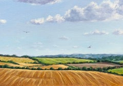 Marie Robinson, Red Kite Country, Original Landscape Painting, Affordable Art