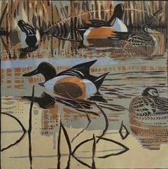 Robert Greenhalf, Shoverlers, Limited Edition Print, Bird Print, Wildlife Art