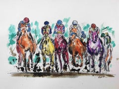 Garth Bayley, Thunder, Contemporary Art, Horse Racing Art, Affordable Art