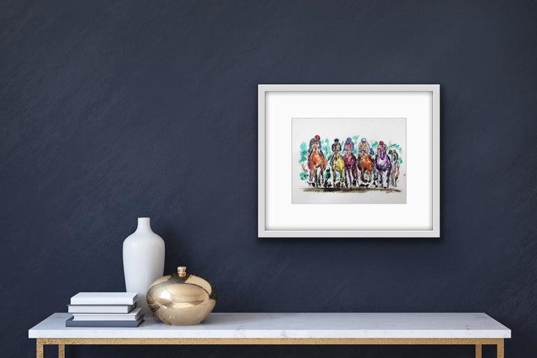 Garth Bayley, Thunder, Contemporary Art, Horse Racing Art, Affordable Art For Sale 6