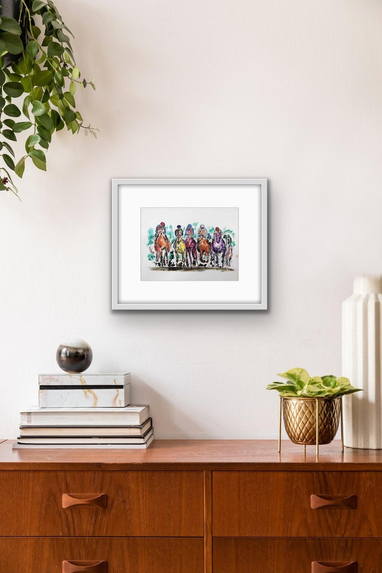 Garth Bayley, Thunder, Contemporary Art, Horse Racing Art, Affordable Art For Sale 5
