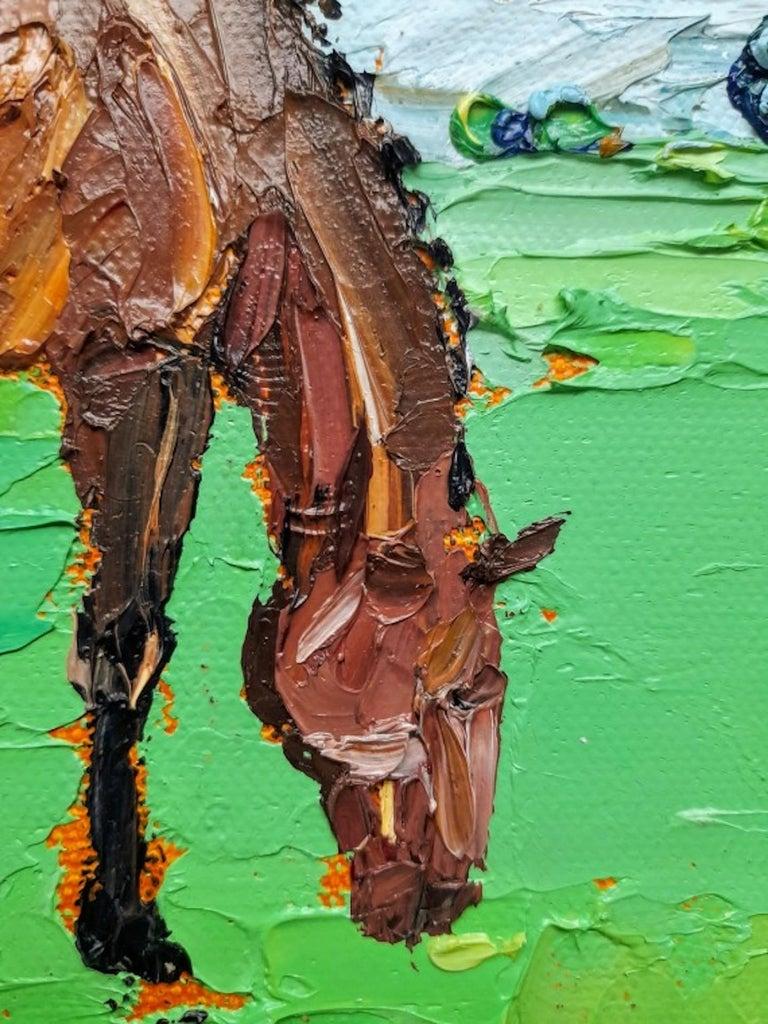 Georgie Dowling, Grazing Horses, Horse Painting, Original Art For Sale 2