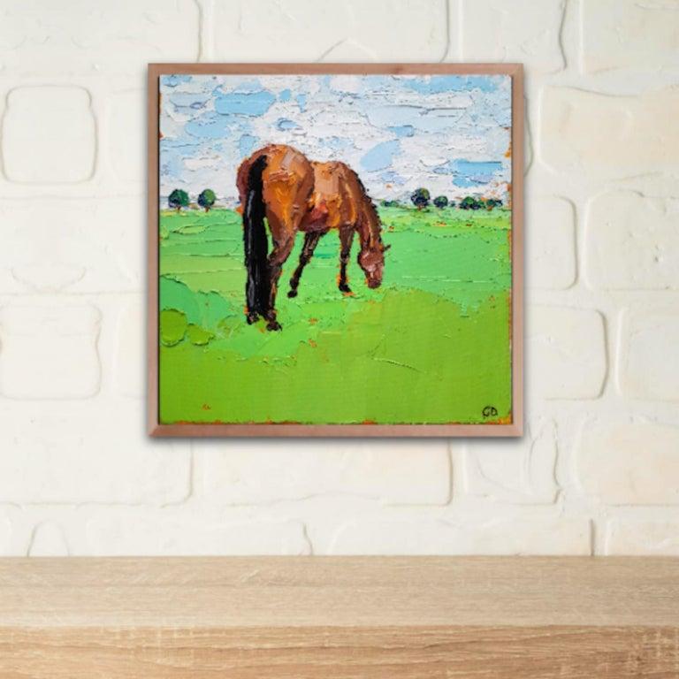 Georgie Dowling, Grazing Horses, Horse Painting, Original Art For Sale 3
