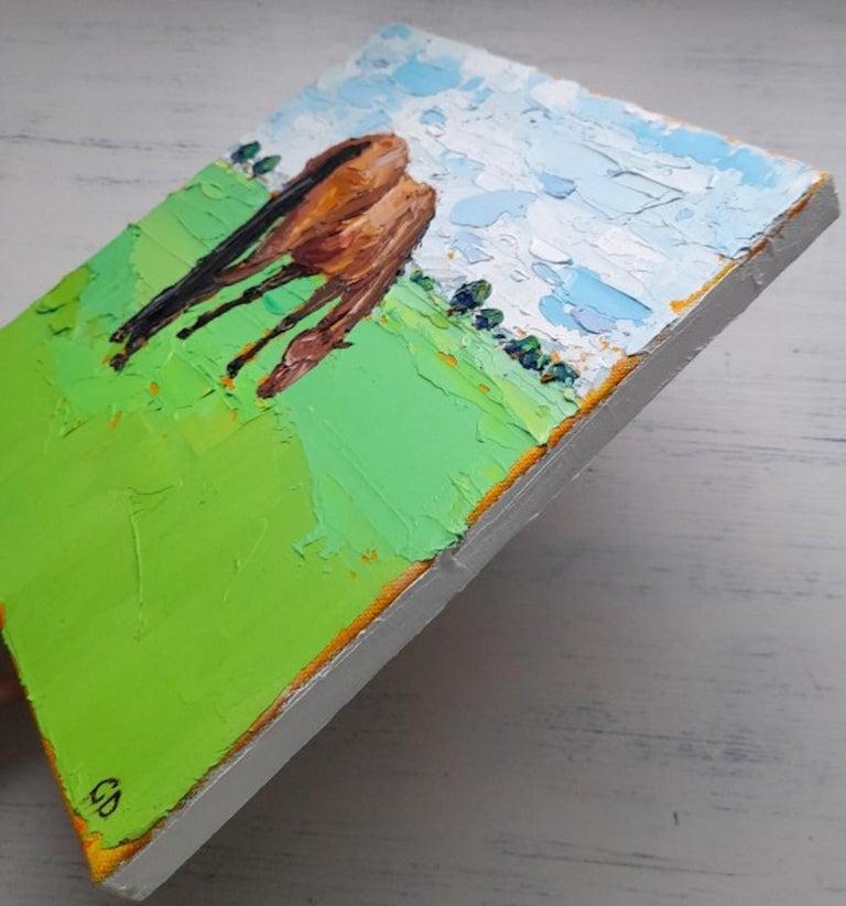 Georgie Dowling, Grazing Horses, Horse Painting, Original Art For Sale 4