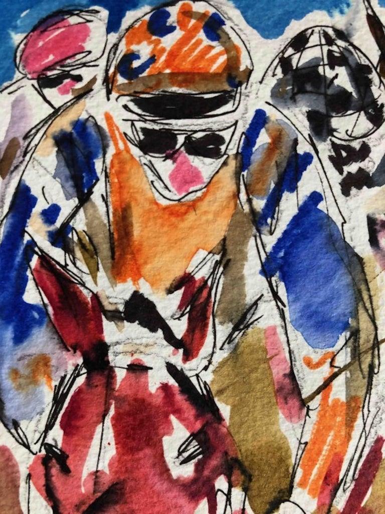 Garth Bayley, Heart of the Race, Horse Racing Art, Contemporary Art, Art Online For Sale 5