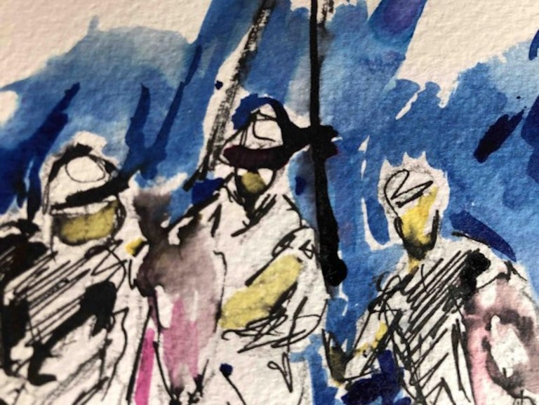Garth Bayley, Polo Players, Contemporary Art, Polo Art, Affordable Art For Sale 1