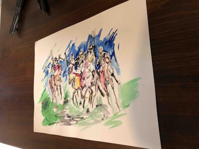 Garth Bayley, Polo Players, Contemporary Art, Polo Art, Affordable Art For Sale 3