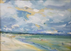 Stephen Kinder, Beach with Changing Sky, Contemporary Art, Seascape Art