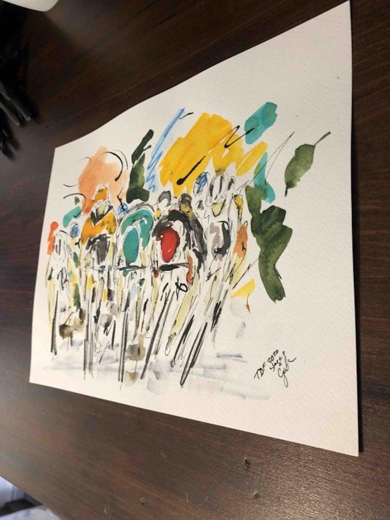 Garth Bayley, Tour de France Stage Eleven 2020, Bicycle Racing Art, Art Online For Sale 3