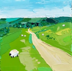 Georgie Dowling, Cleeves Path, Cotswolds, Landscape Art, Affordable Art