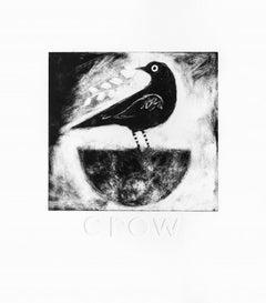 Jane Ormes, Crow, Animal Art, Limited Edition Print, Affordable Art, Art Online