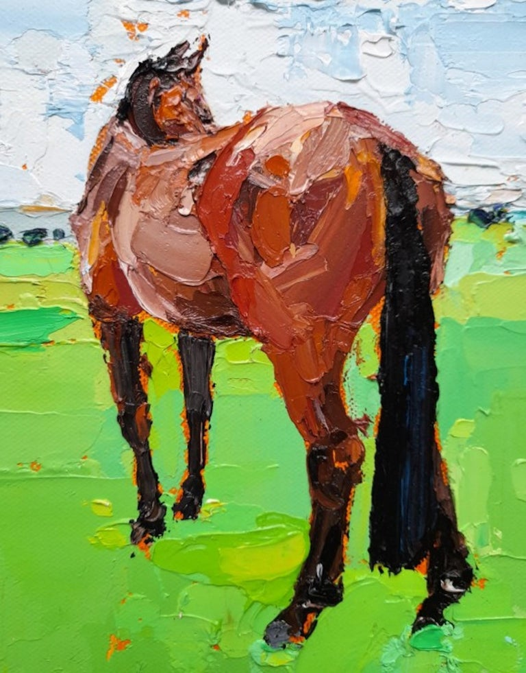 Georgie Dowling, Gazing Horse, Horse Painting, Original Painting, Affordable Art For Sale 1