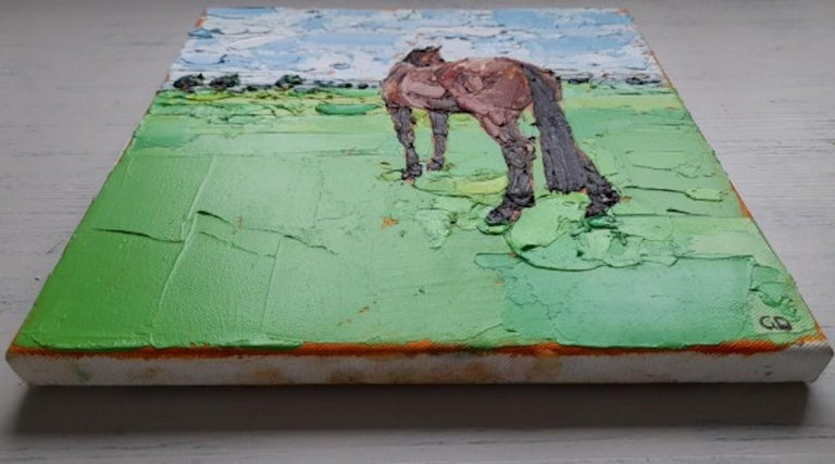 Georgie Dowling, Gazing Horse, Horse Painting, Original Painting, Affordable Art For Sale 2
