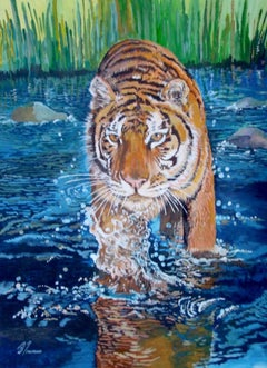 David Truman, The Splash, Animal Art, Contemporary Art, Art Online