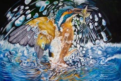 David Truman, Movement of Water, Contemporary Art, Animal Art, Original Art