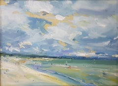 Stephen Kinder, Beach with Changing Sky, Coastal Art, Original Painting