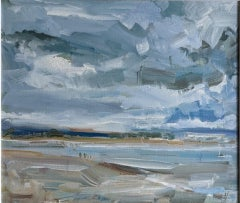Stephen Kinder, East Head Sand Bar, Coastal Art, Seascape Painting