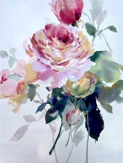 Jo Haran, Ode to the Rose, Original Floral Painting, Affordable Art, Art Online