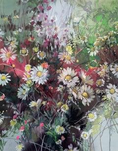 Jo Haran, Daisy Array, Contemporary Floral Art, Affordable Art